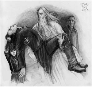 Gandalf y Pippin salvan a Faramir, según Catherine Karina Chmiel