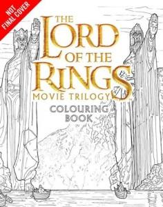 Libro para colorear de la trilogía de El Señor de los Anillos (portada no definitiva)