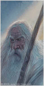 Gandalf el Blanco, según John Howe