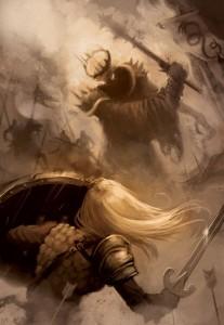 Éowyn y el Rey Brujo, según Oliver Meinerding