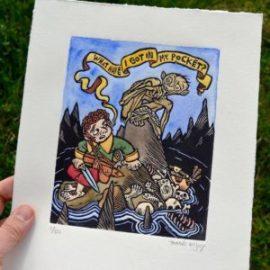 Bilbo y Gollum, según Tomás Hijo