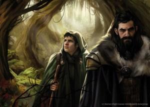 Bilbo y Thorin en el Bosque Negro, según Magali Villeneuve