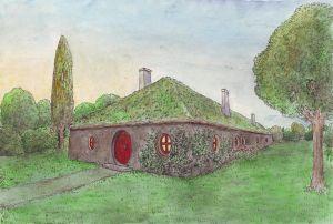 La casita de Frodo en Cricava, según Matěj Čadil