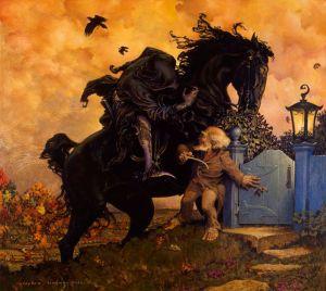 El Tío Gamyi y Khamûl, según Stephen Hickman