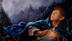 Bilbo se pone el Anillo, según el artista estadounidense Eric Braddock