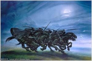 Los Nazgûl, según John Howe