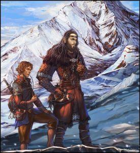 Bilbo y Thorin en la Montaña Solitaria, según Venlian
