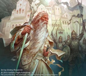 Gandalf en Minas Tirith, según Dmitry Prosvirnin