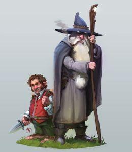 Bilbo y Gandalf, según el artista belga Jordy Lakiere
