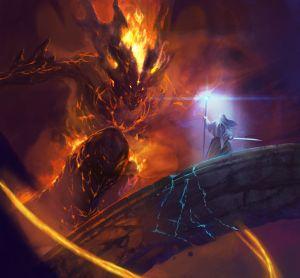 Gandalf y el Balrog, según Diego Gisbert Llorens