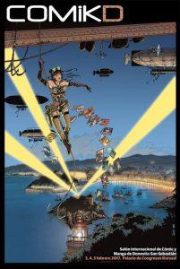 Cartel del I Salón Internacional de Cómic y Manga de Donostia-San Sebastián