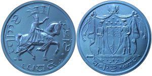 Moneda de mithril de la coronación de Aragorn de Shire Post Mint