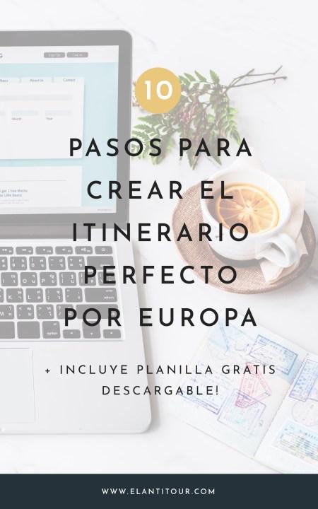 itinerario de viaje a europa