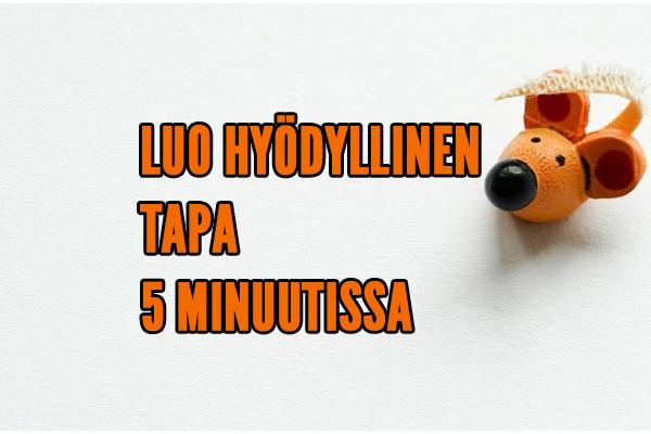 LUO HYDYLLINEN TAPA 5 MINUUTISSA