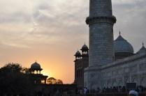 O pôr-do-sol em Agra