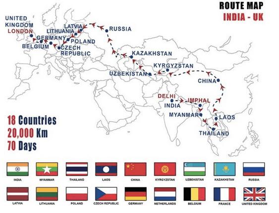 Rota da viagem