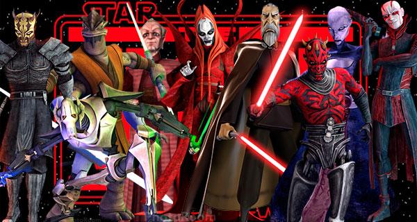 villanos - Star Wars, Clone Wars: Villanos del lado Oscuro