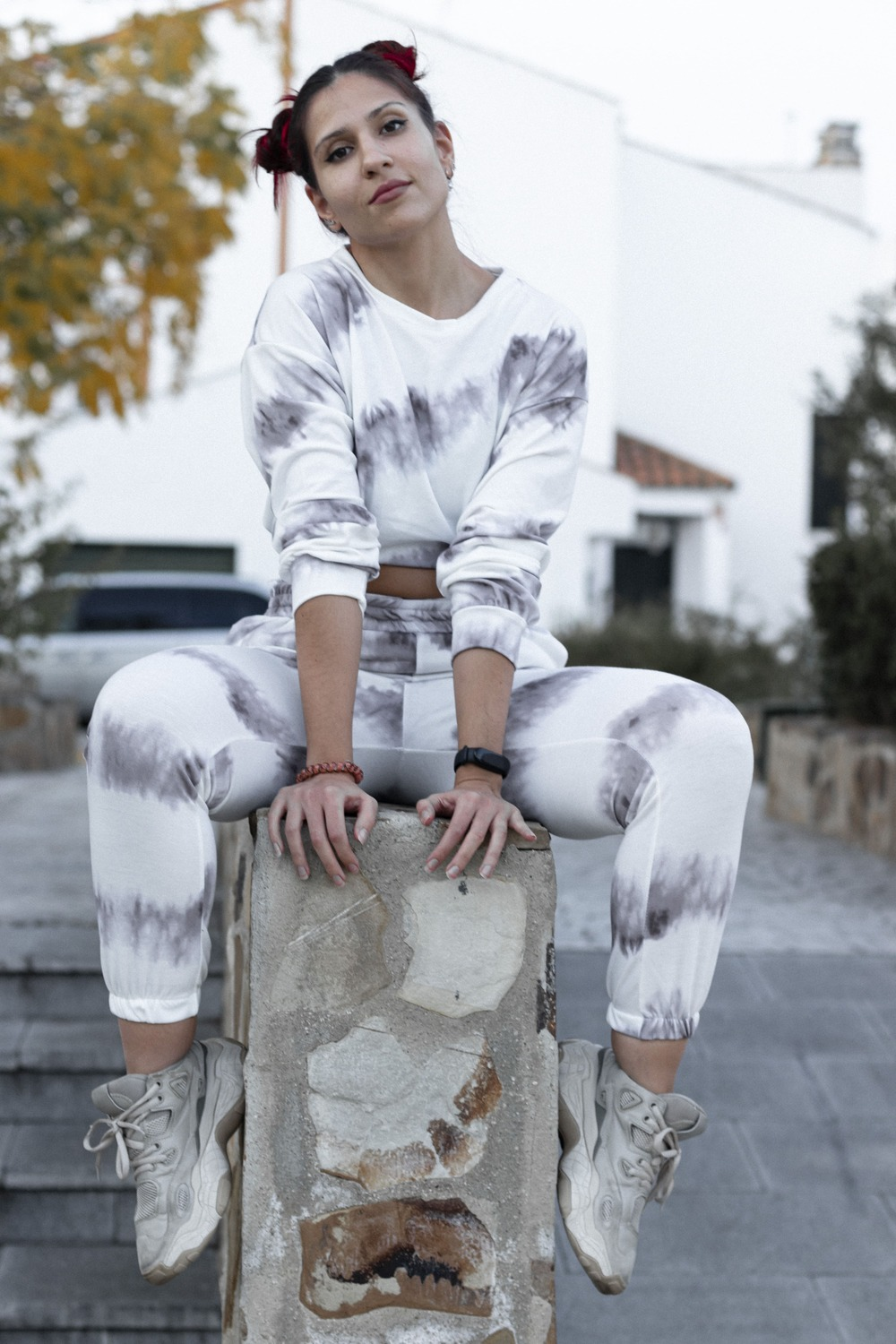 GREY TYE DYE SET