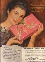1941. Whitman's chocolates Mother's Day