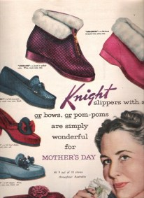 Knight slippers. Mother's Day