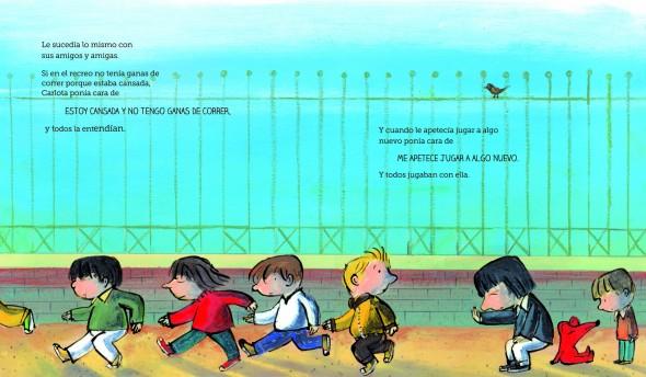 Ilustraciones de 'Carlota no dice ni pío'.