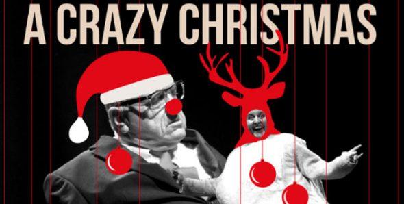 Cartel del espectáculo para niños de Leo Bassi A Crazy Christmas Show.