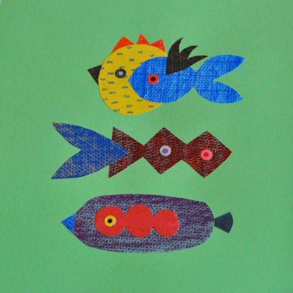Unos bonitos peces obra de Elena Hormiga.
