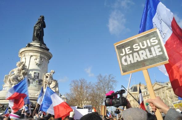 Marcha a favor de la libertad de expresión en París tras el atentado en la revista Charlie Hebdo. Foto: Sebastien Amiet / Flickr Creative Commons.
