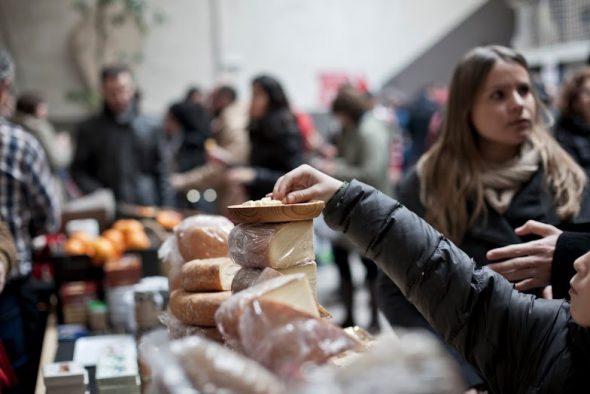 El mercado de La Buena Vida.