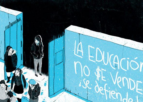 Una de las ilustraciones de la novela 'Al sur de la alameda'.