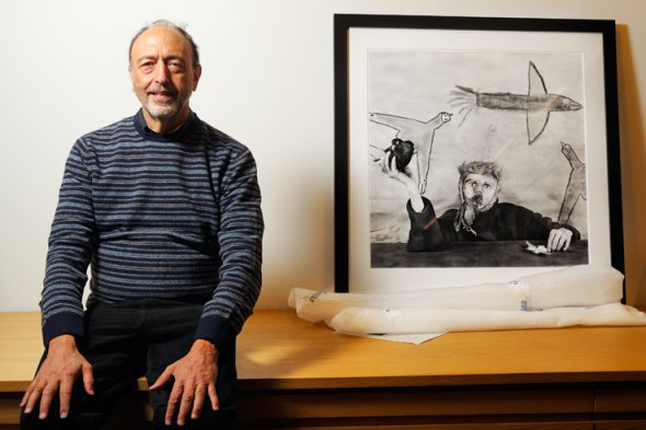 El fotógrafo Roger Ballen en Madrid. Foto: Roberto Villalón.