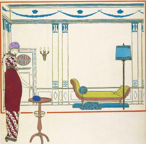 Los vestidos de  Paul Poiret vistos por Georges Lepape 1911