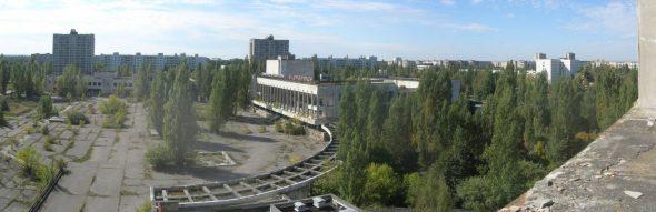 Chernóbil convertida en una ciudad fantásma. Foto: Carl Montgomery / Flickr Creative Commons.