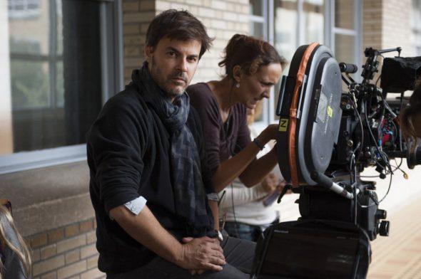 François Ozon durante el rodaje de