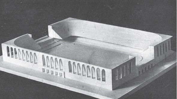 Maqueta del proyecto para el estadio Santiago Bernabeu