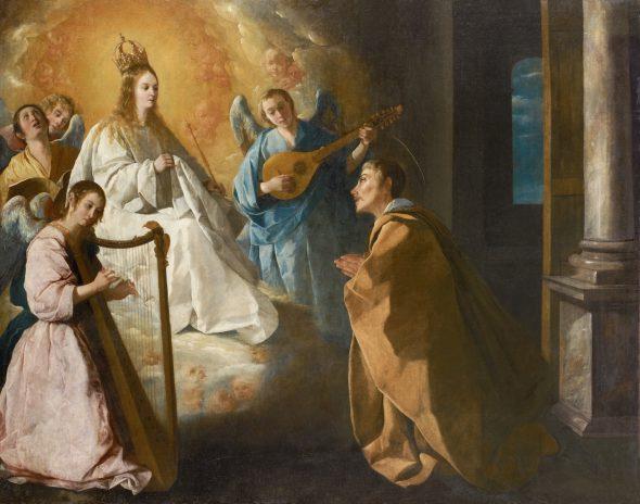Francisco de Zurbarán. 'Aparición de la Viergen a San Pedro Nolasco'. Colección privada. Cortesía Galería Coatalem, París.