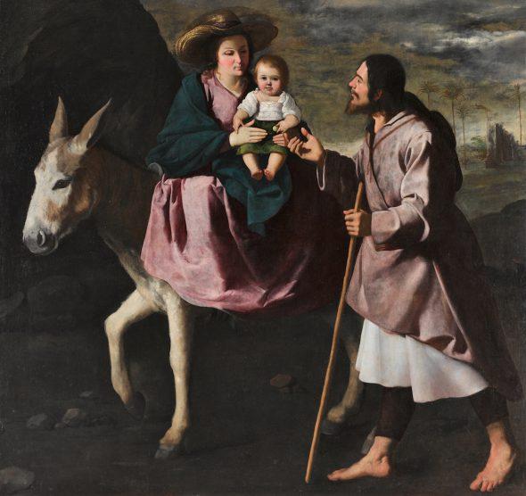 Francisco de Zurbarán. 'Huída a Egipto'. Seattle Art Museum. Donación Barney A. Ebsworth.
