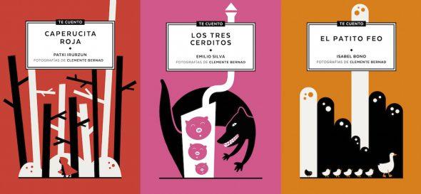 Tres portadas de la colección de libros 'Te cuento'.