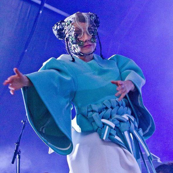 Björk durante su concierto en Barcelona el pasado viernes. Foto: Francesc Fábregas subida al Instagram de la artista.