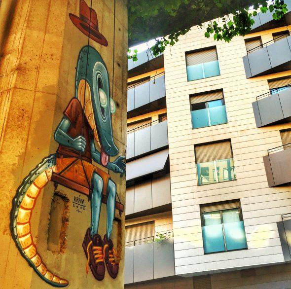 Obra de Kram en la Sotavies Urban Gallery realizada en esta edición. Foto: Manuel Cuéllar.