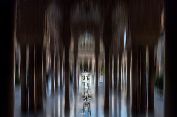 Una de las obras de la exposición Museos en blanco de José Manuel Ballester.