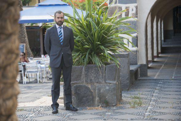 El abogado Jaime Sanz en el Pueblo Canario de Las Palmas. Foto: Luis Roca Arencibia.