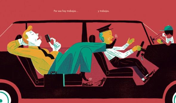 Una de las ilustraciones del libro 'Clases sociales'.