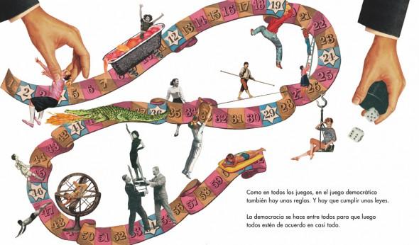 Una de las ilustraciones del libro 'Democracia'.