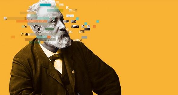 Cartel de la exposición sobre Julio Verne.