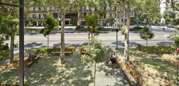 Paseo de Sant Joan en Barcelona.