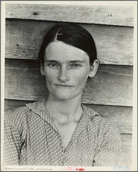 Allie Mae Burroughs, mujer de un aparcero del algodón. Condado de Hale, Alabama. Foto: Walker Evans.