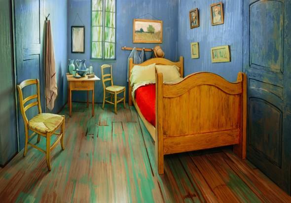 Réplica de la habitación pintada por Van Gogh en Arlés.