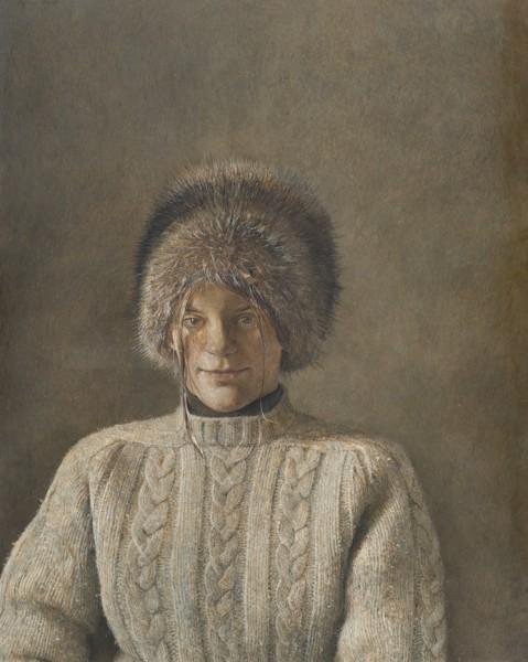 Andrew Wyeth. 'Mi joven amiga, 1970'. Museo Thyssen-Bornemisza