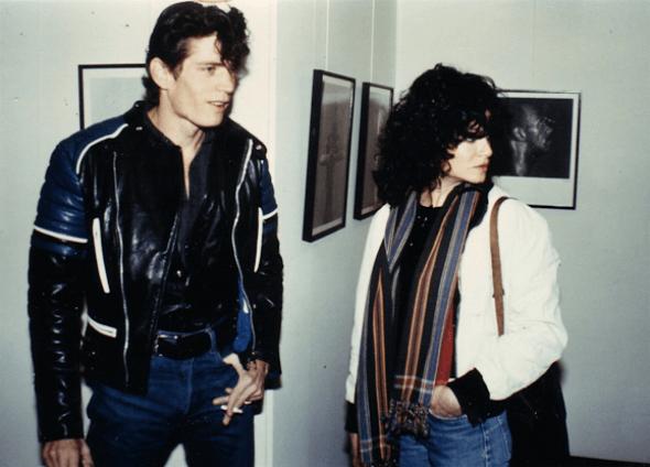 Robert Mapplethorpe y Lisa Lyon. Inauguración de la exposición Black Males (1980) © Galerie Jurka.